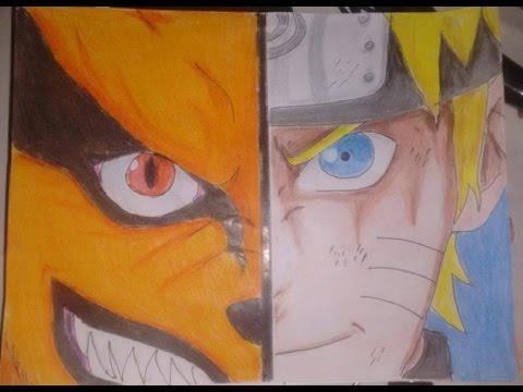 Como Dibujar Y Pintar A Naruto Kurama Paso A Paso Lapices De Colores Speed Drawing