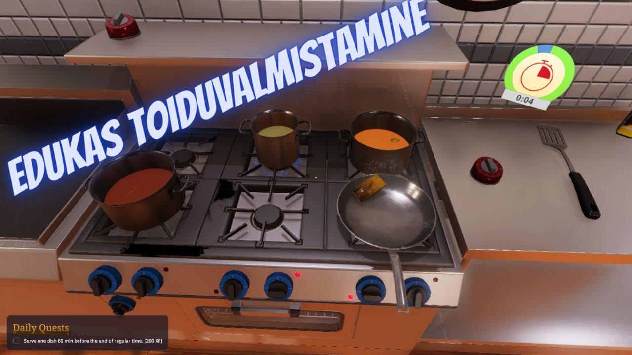 "Cooking simulator PC Episode 4""Edukas toiduvalmistamine"""