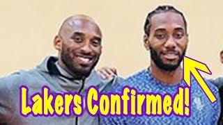 Kawhi Leonard FINALLY SMILES Standing Next To Kobe! Move To Lakers CONFIRMED?!