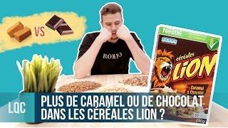 LQC - Plus de céréales au caramel ou au chocolat dans les céréales Lion ?