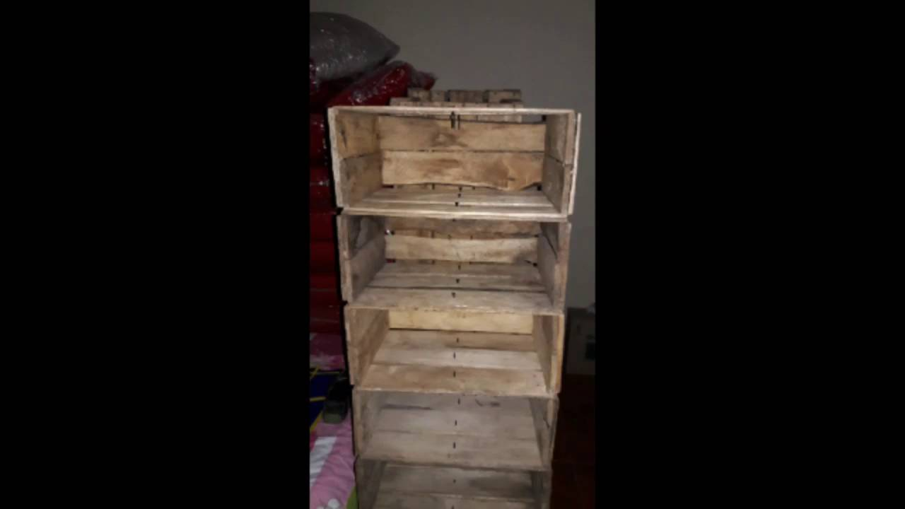 zapatera hecha de cajas para frutas youtube