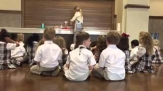 CtR School Pre-K Students Make Elephant Toothpaste