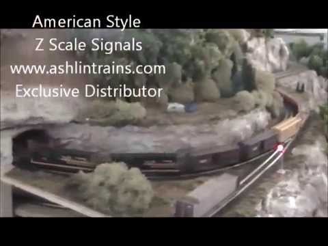 Z Scale Display with Helix Kits by Ashlin Designs Inc