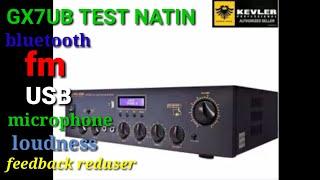 Kevler Gx7ub 800watts Sound test....