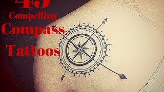 45 Compelling Compass Tattoos