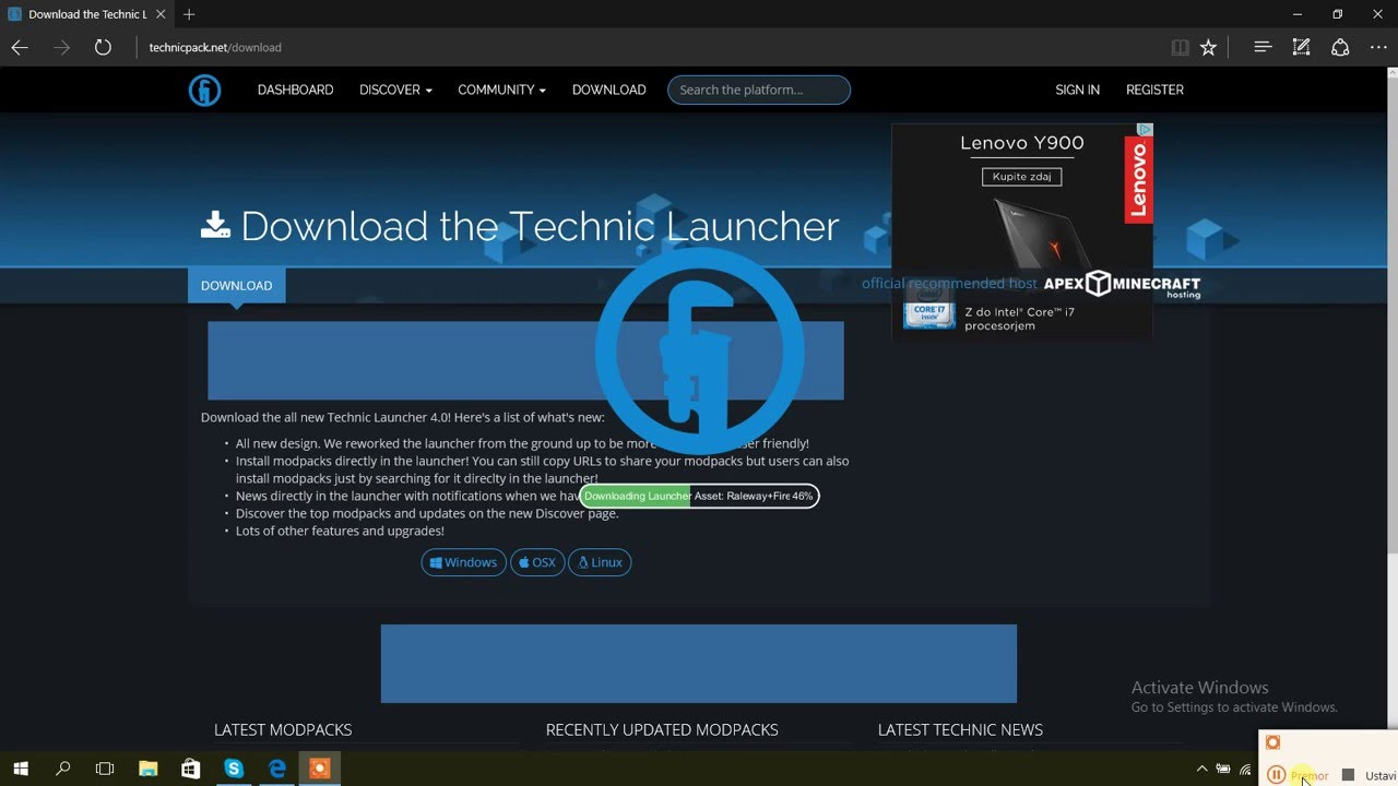 How to download the technic launcher