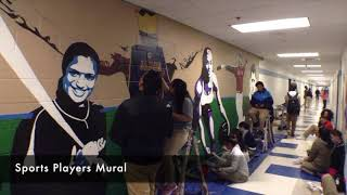 Art in a Flash - LHS Sports Mural