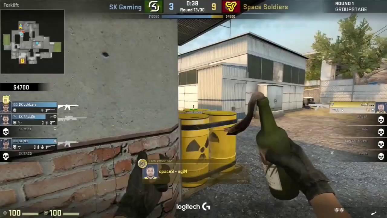 nGIN 1v4 clutch vs SK Gaming [ ESL One Cologne 2017 ]