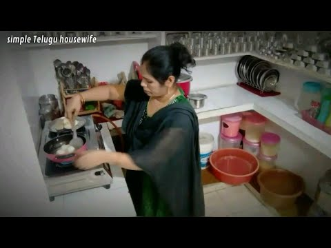 Indian housewife easy evening work