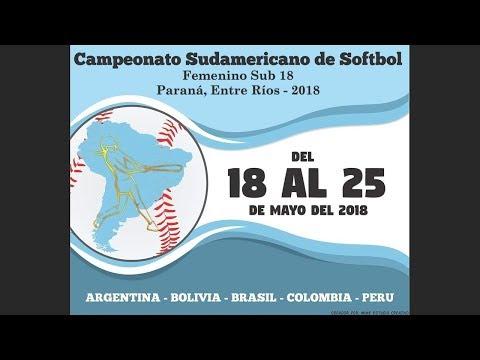 Argentina White v Colombia - U-18 Women's South American Softball Championship 2018