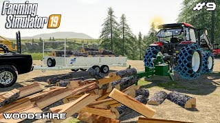 Splitting logs | Forestry - Woodshire | Farming Simulator 19 | Episode 9