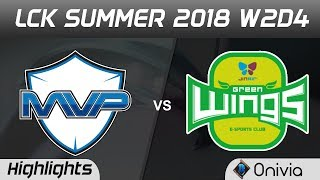Mvp vs jag highlights game 1 lck summer 2018 w2d4 mvp vs jin air greenwings by onivia