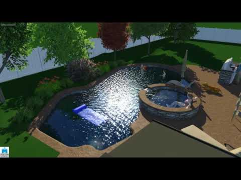 3d pool design by Monogram Custom Pools in Lehigh and Bucks County, PA