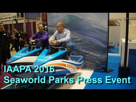 IAAPA 2016 Seaworld Parks and Entertainment Press Event on 2017 Rides and Attractions