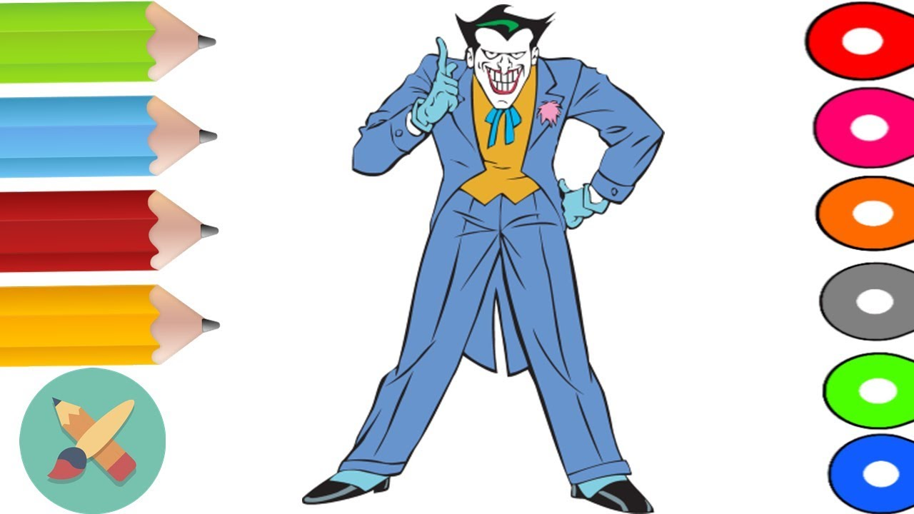 magic pencil joker coloring pages coloring book learn colors