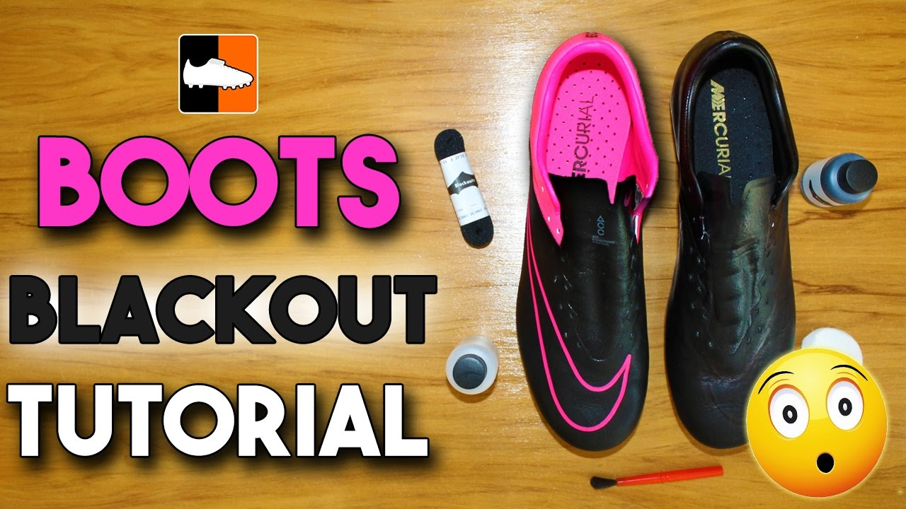 836f48a5e How to Black-Out Your Football Boots   Soccer Cleats - YouTube