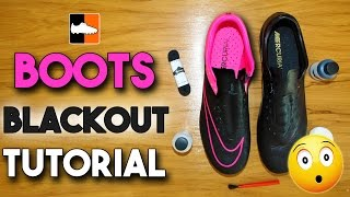 How to Black-Out Your Football Boots & Soccer Cleats