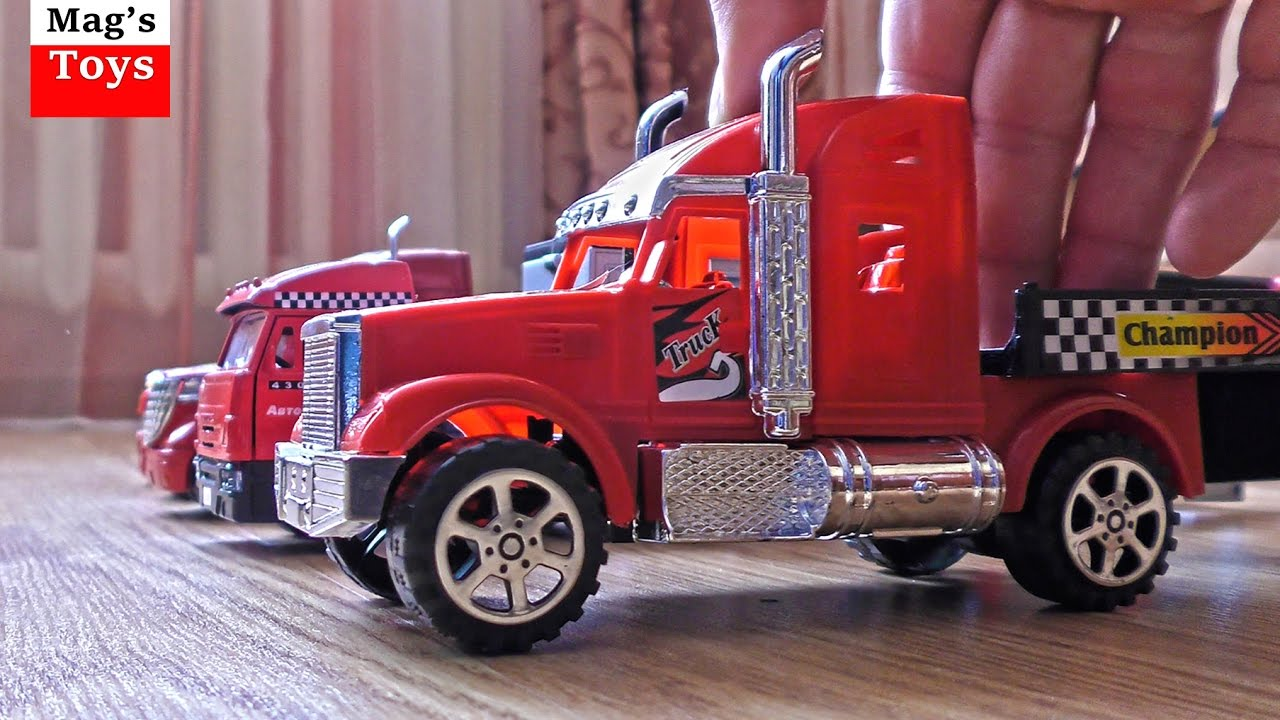 Car Trailers for Kids | Lots of Toy Cars Transported by ...
