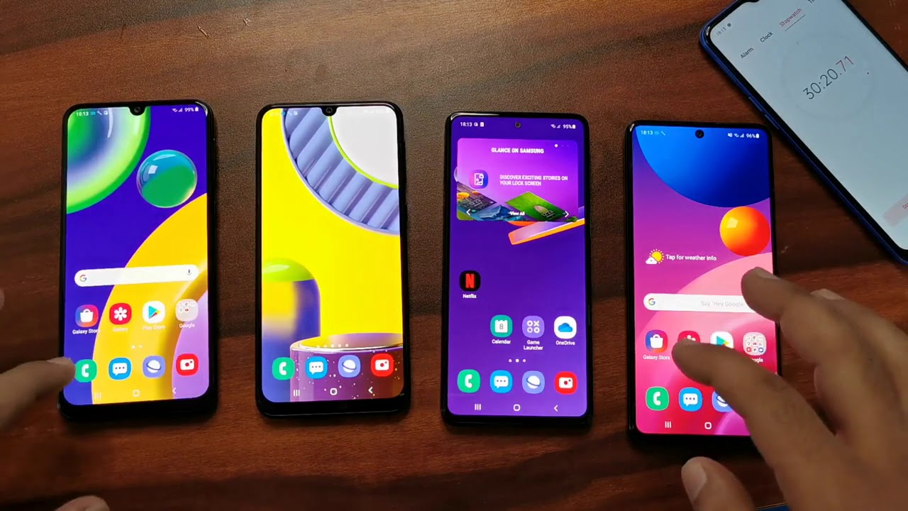 Galaxy M51 Vs Galaxy M31s Vs Galaxy M31 Vs Galaxy M21 Gaming Test Battery Charging Display Quality Youtube