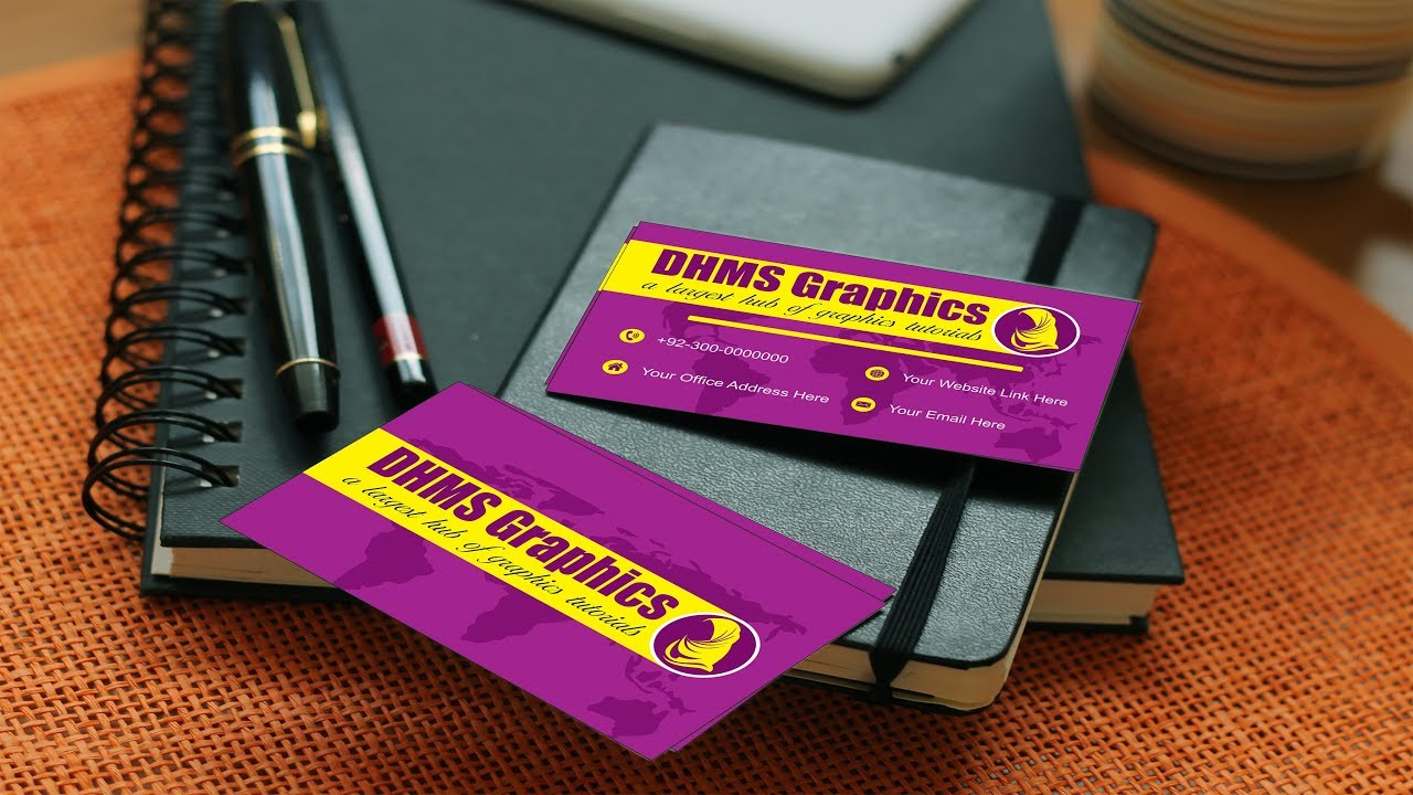 How To Create A Print Ready Business Card Design By DHMS Graphics