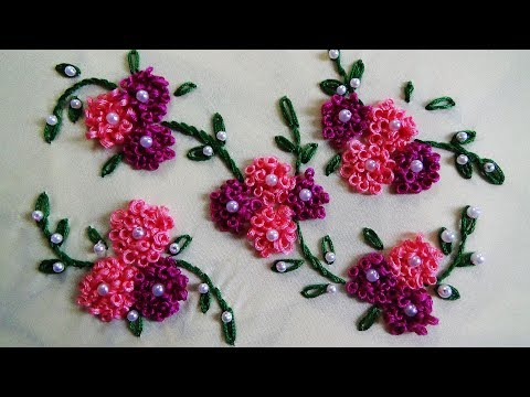 Hand Embroidery: Ring Knot Stitch