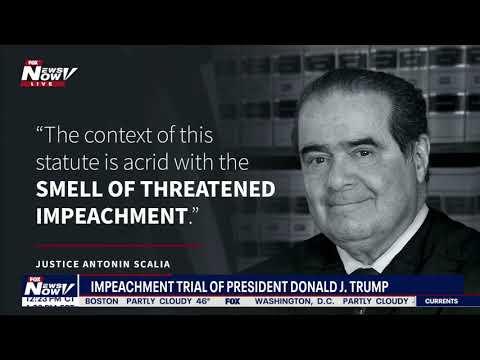 TRUMP DEFENSE: Kenneth Starr during senate impeachment trial