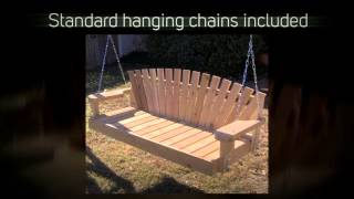 Tmp Outdoor Furniture Sunrise Red Cedar Porch Swing