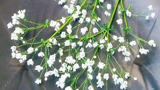 Гипсофила из бисера Мастер класс (Авторский) пошаговый от Виктории. Цветы из бисера Бисероплетение