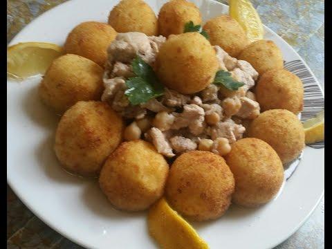 Sfiria batata, Croquettes de pomme de terre et leur sauce poulet  سفيرية بطاطا و دجاج
