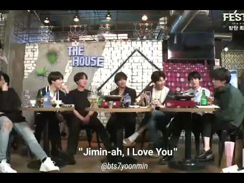 Suga says I love you to jimin|Bts festa 2018 eng sub