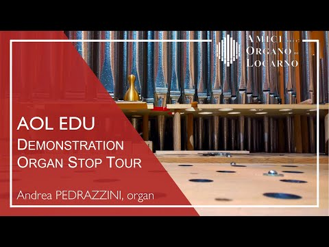 Demonstration and Organ Stop Tour - Andrea Pedrazzini (Brione s. Minusio, June 2017)