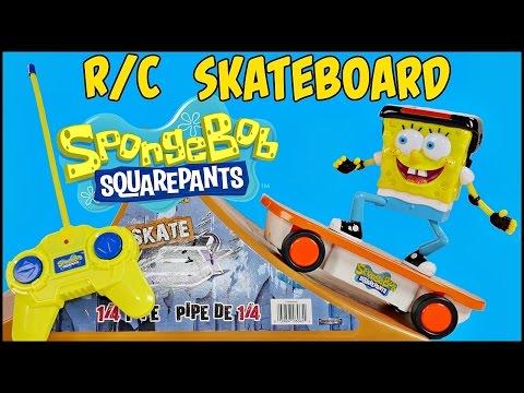 SPONGEBOB SQUAREPANTS R/C SKATEBOARDER Remote Control Skateboard Radio Control Nickelodeon