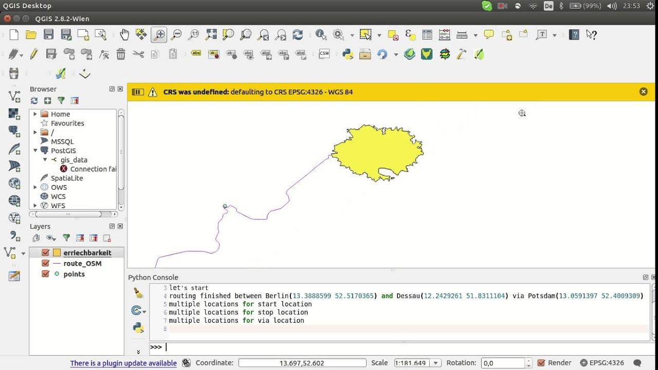 OSM route plugin for QGIS