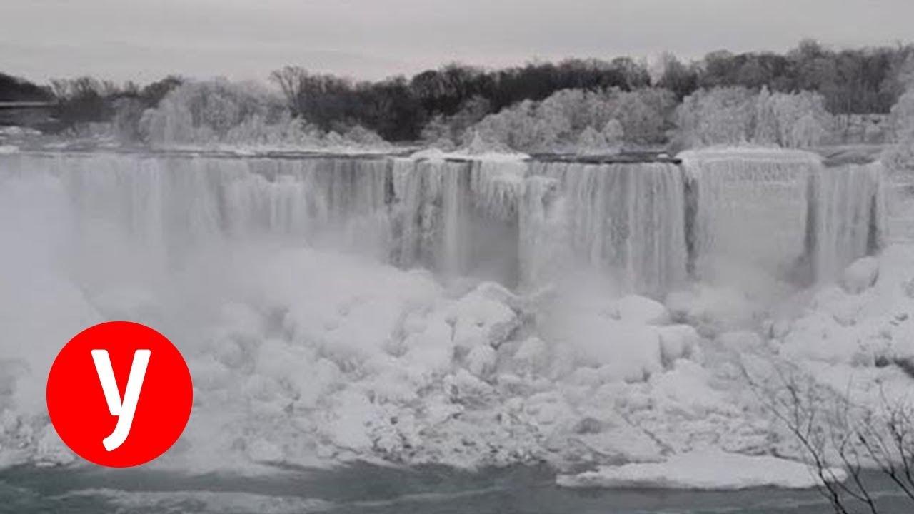 מדהים: מפלי הניאגרה קפאו