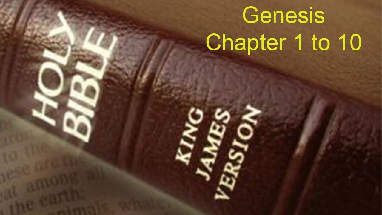 the holy bible genesis 1 10 king james version youtube