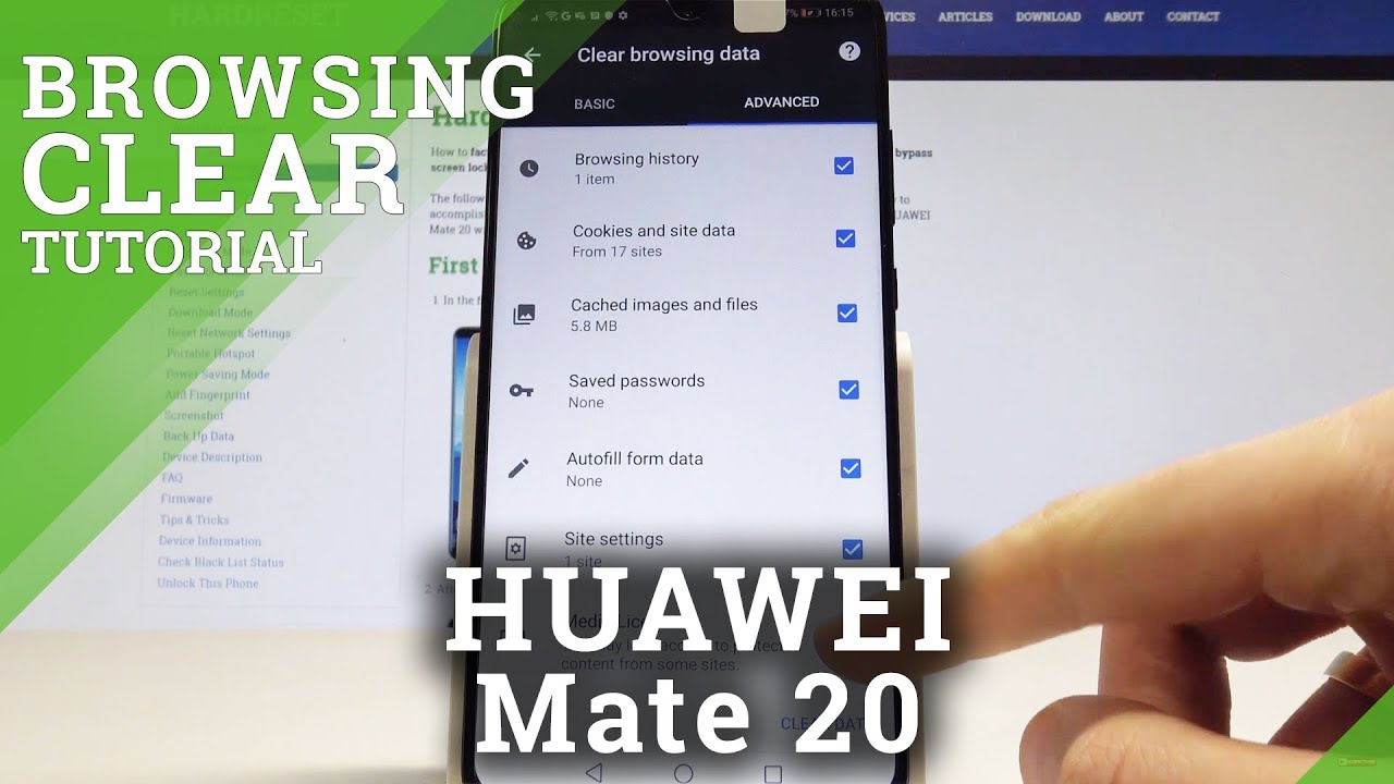 How to Clear Browsing Data on HUAWEI Mate 20 - Reset Browser History /  Delete Cookies
