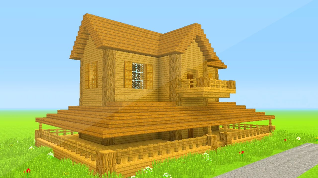 Minecraft how to build a wooden mansion