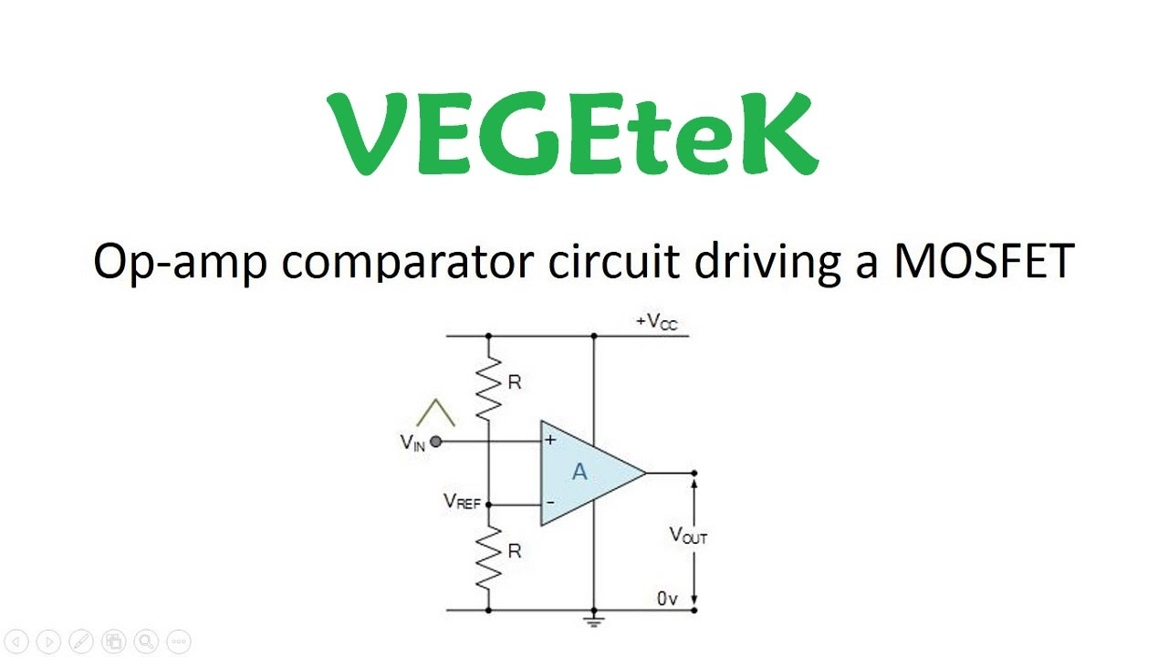 Op Amp Comparator Circuit Driving A Mosfet Youtube Dc Motor Controller Using 741 Schematic Diagram