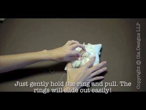 Wedding Ring Bands >> How to tie your wedding rings to a wedding ring pillow (Part 1) - YouTube