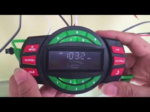 Radio parlante para moto Reproductor Mp3 Bluetooth Handsfree - Peru