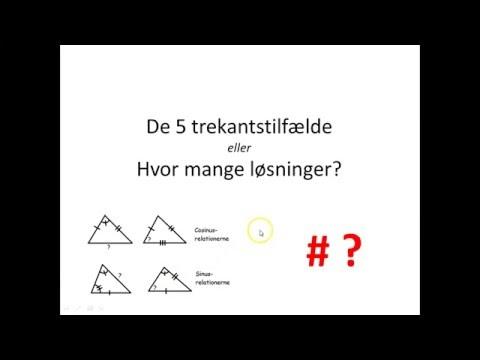 De 5 trekantstilfælde eller Hvor mange løsninger?