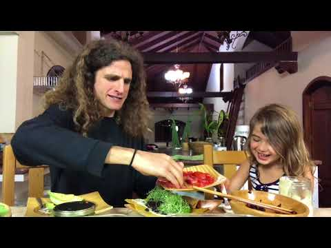 Raw Food Coconut Wrap Video with Oria