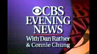 1995 CBS NEWS, DAN RATHER & CONNIE CHUNG, television commercial