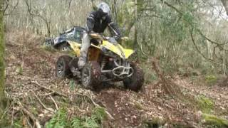 can am outlander 800's renegade 800 & 500 in the woods