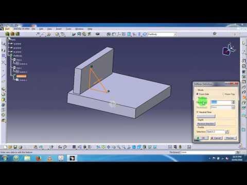 Catia mechanical Design - Part Design - Part modelling - YouTube