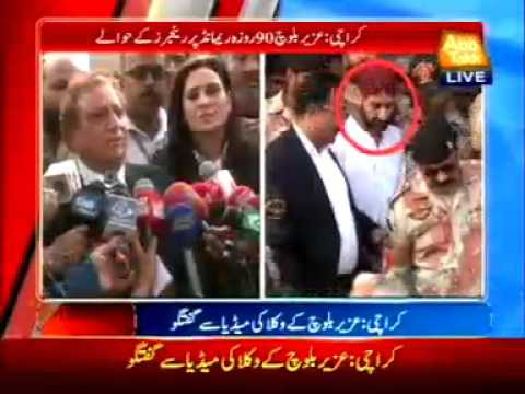 Karachi : Lawyers of Uzair Baloch talks to  media