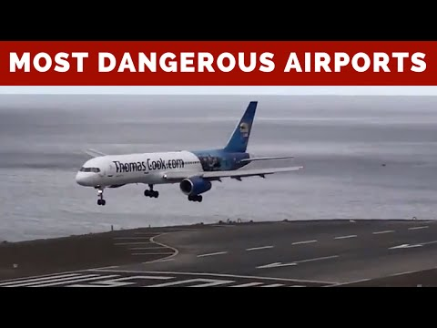 Most DANGEROUS AIRPORTS Compilation - Landings and Takeoffs