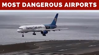 Top 10 Airlines - Most DANGEROUS AIRPORTS Compilation - Landings and Takeoffs