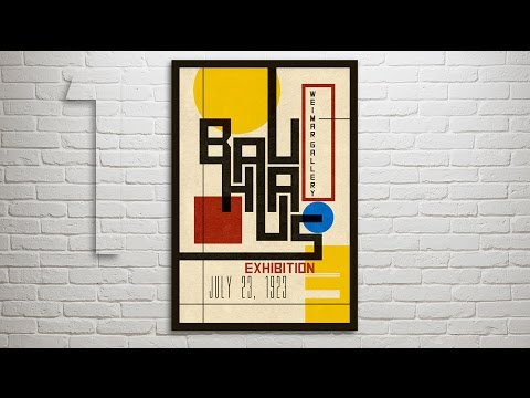 Photoshop Tutorial: Part 1 - How to Design & Create a Vintage, Bauhaus Poster (Design #1)