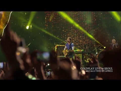 Coldplay - Yellow, Live in Seoul, Korea 2017. Full HD (고음질 콜드플레이 내한 공연 라이브)